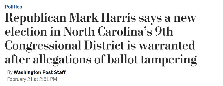 Before the hearing began Mark Harris was demanding he be certified as the winner of the election  Then his son testified  Now HARRIS says there should be a new election