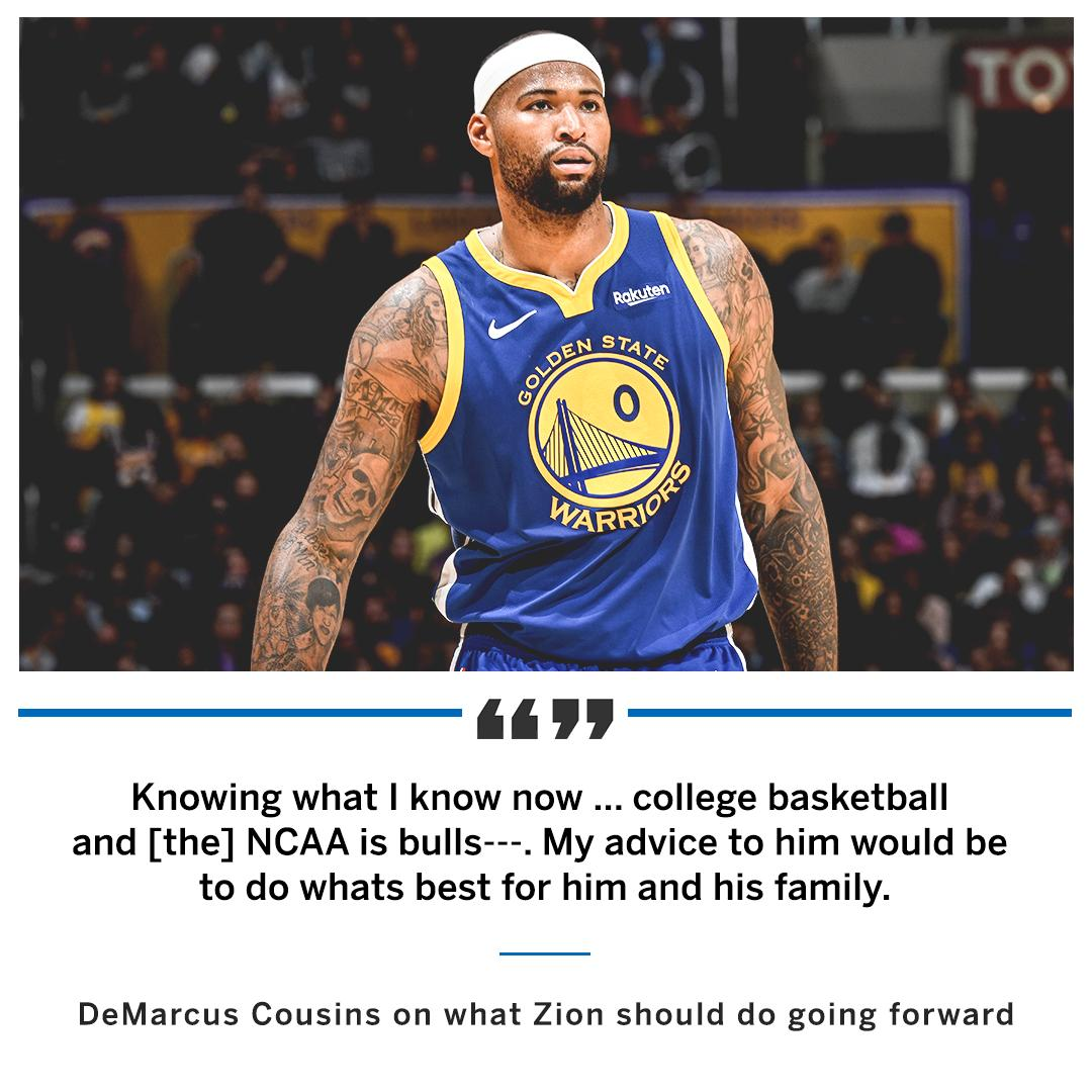 DeMarcus Cousins gives his take on Zion's situation