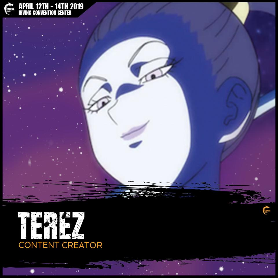 Also joining us for year 2 of @KamehaCon   She is the denmother of the Dragon Ball fandom... a big shot over on the DBZ Reddit, and she is scheduled to appear at Kamehacon 2 to discuss TIME TRAVEL in Dragon Ball, come out and show some love to @Terez27 !
