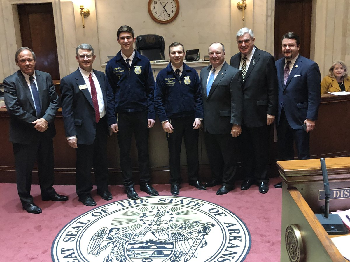 Special thanks to Senator @Bruce_Maloch for recognizing National FFA Week today in the Senate! We appreciate your continued support of Agricultural Education and FFA! #FFAWeek2019
