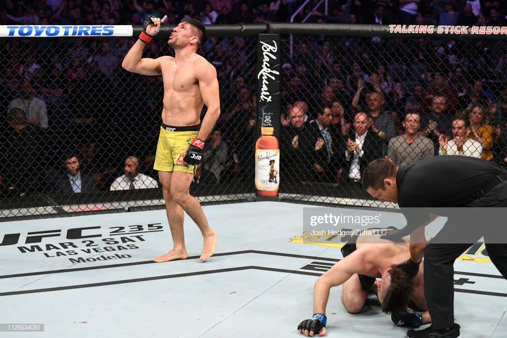 .@VicenteLuqueMMA doesn't shower, he only takes blood baths #FOTY #UFCPhoenix @ufc   Photo cred: @GettyImages