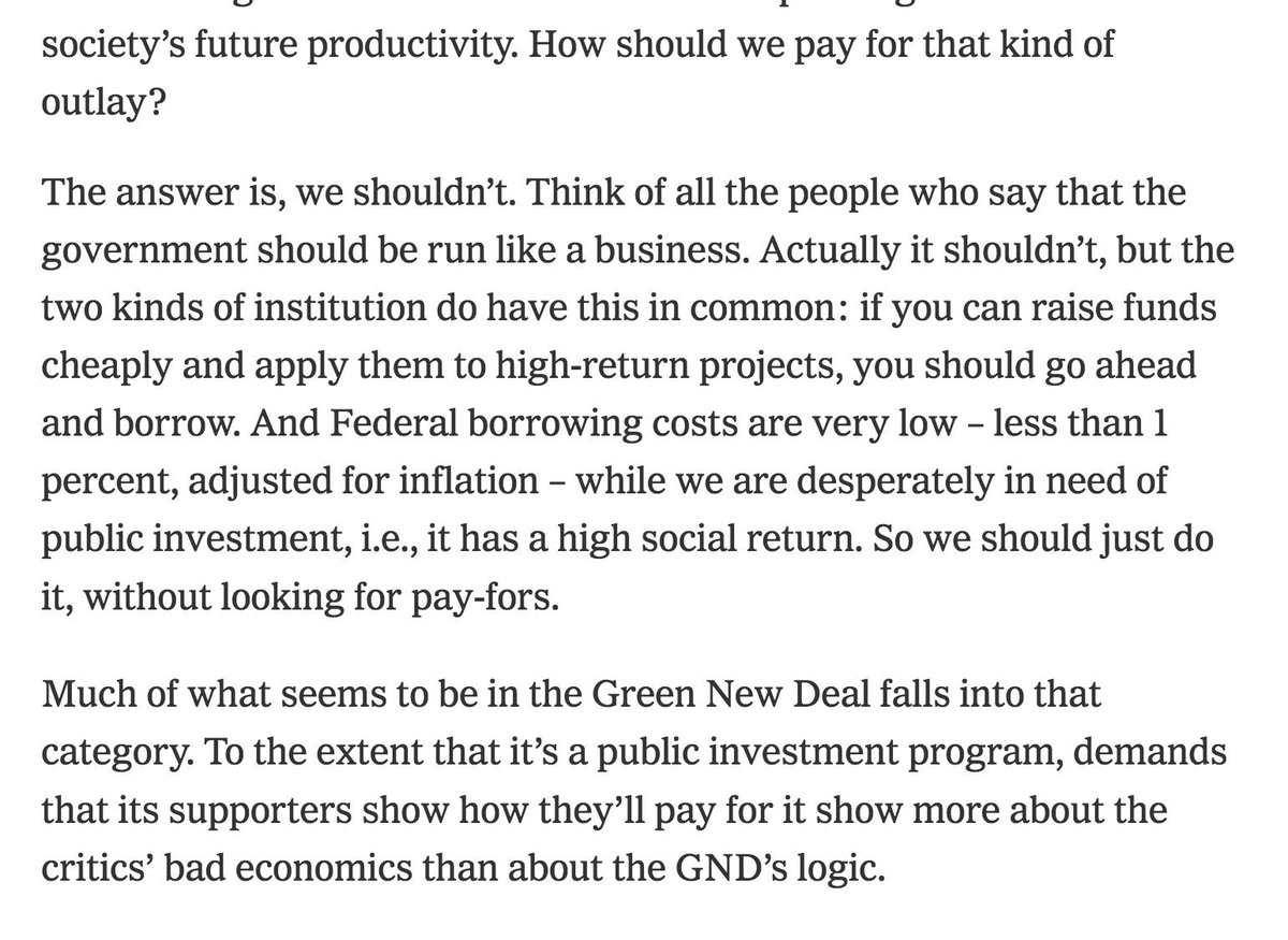 Wow! @paulkrugman makes the case for how we can pay for @AOC&#39;s Green New Deal.   https://www. nytimes.com/2019/02/19/opi nion/on-paying-for-a-progressive-agenda.html &nbsp; … <br>http://pic.twitter.com/y9yk3qe5i4