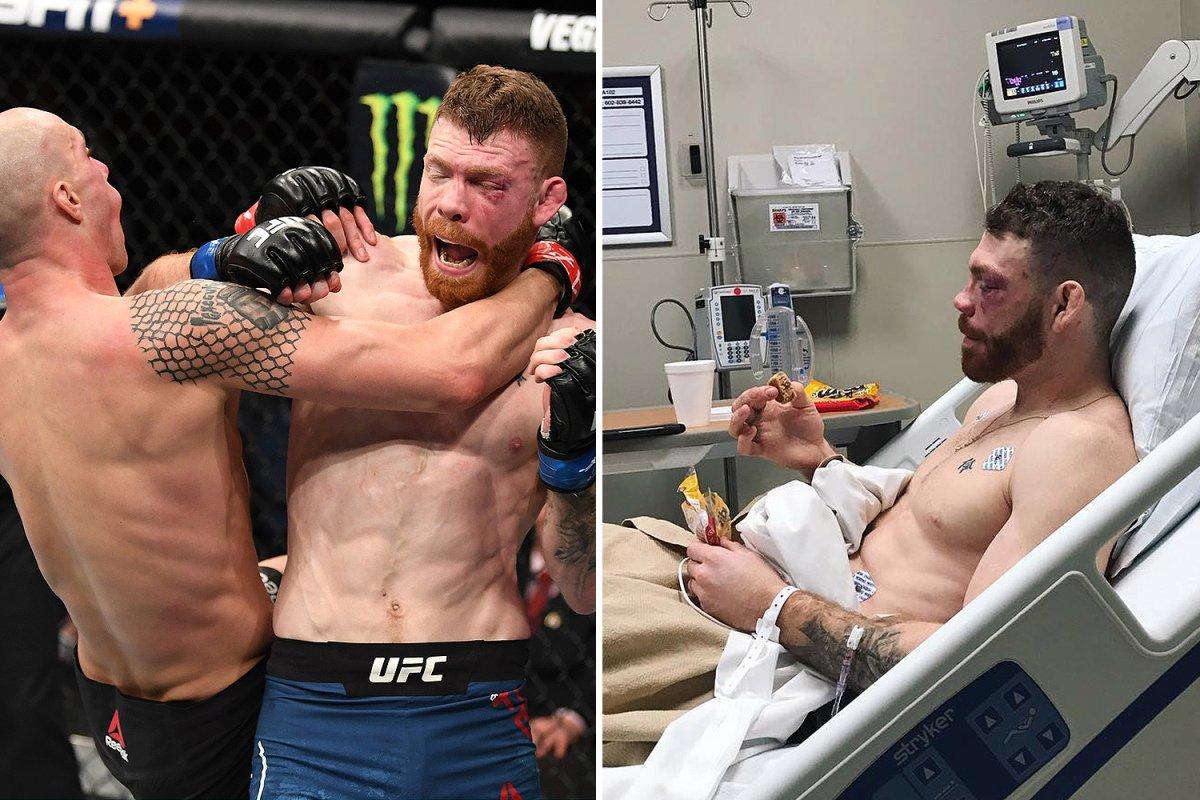 Paul Felder 🇺🇸 (16-4) sufrió el colapso de uno de sus pulmones, durante su combate en #UFCPhoenix: Se estipulaba que la lesión cedería naturalmente, esto no sucedió, y el competidor debió atravesar una cirugía en el dia de ayer, demandando ésta, una semana de recuperación #ATMMA