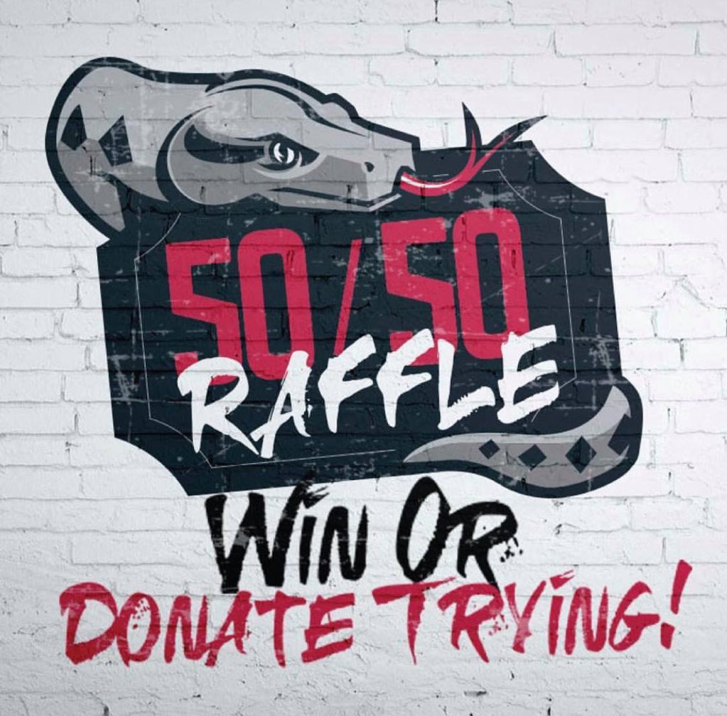 ‼️TOMORROW Feb. 22nd 50/50 Raffle‼️Spend some cash win some cash! Come out to any of our games to win or donate trying! 💥 Click for tickets➡️http://rgvipers.com Look for the 🐍GREEN VEST🐍 to participate in the 50/50 Raffle during home games!  #NBAGLeague #RGVVipers