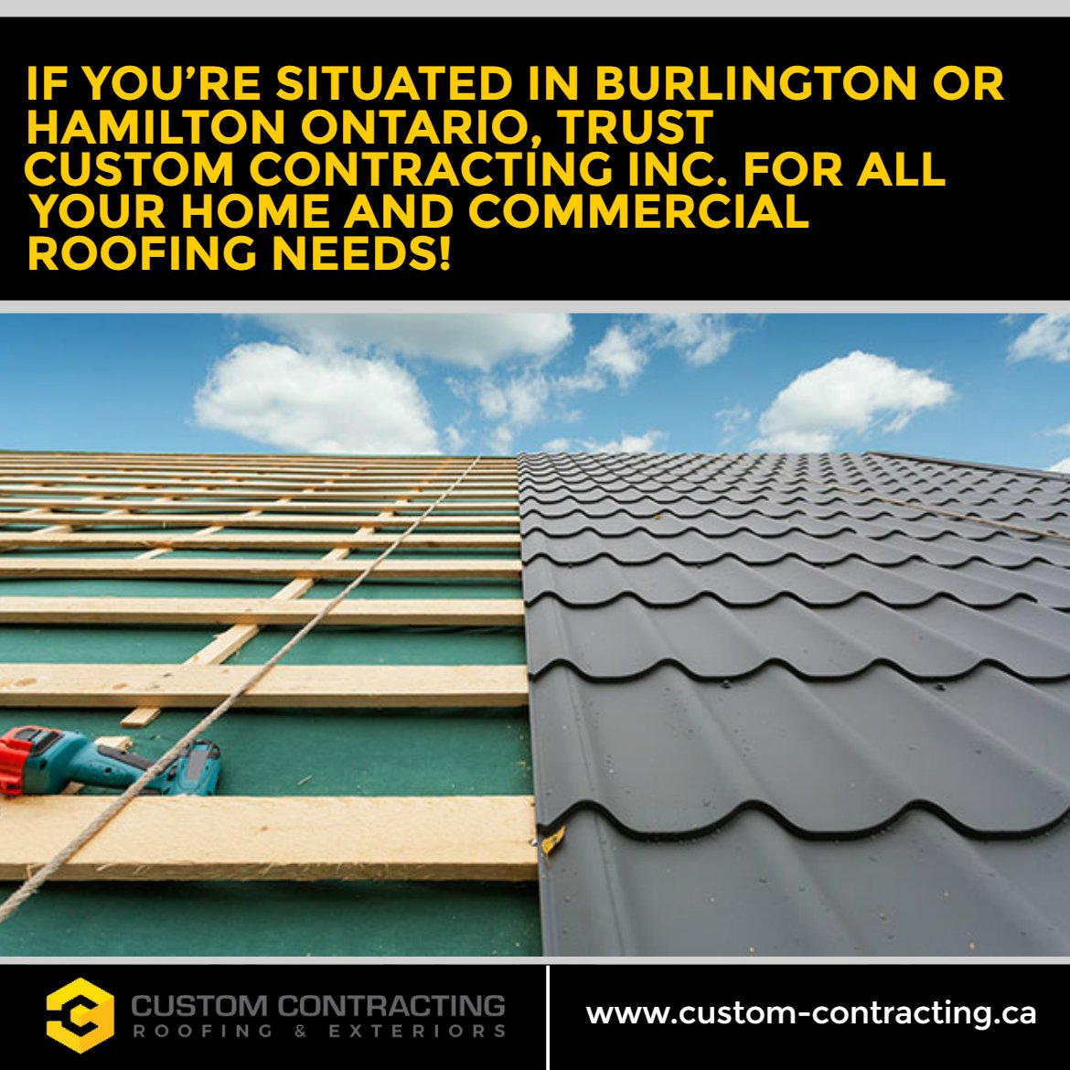 Hamilton ontario trust custom contracting inc for all your home and commercial roofing needs http www custom contracting ca customcontracting