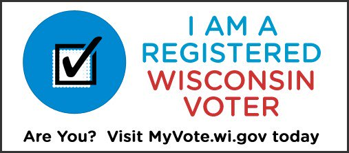Today is the last day to register online for the Spring Election! Visit http://MyVote.wi.gov  to confirm your registration today. You can still register in your municipal clerk's office or at the polls.