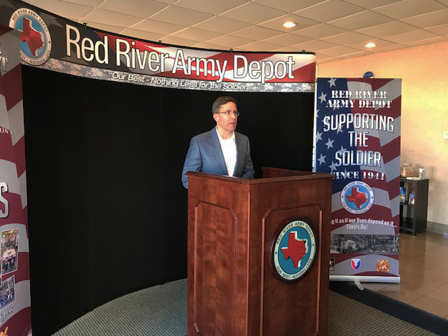 Appreciate @SecArmy visiting @RRAD_TX yesterday to see firsthand the quality work these men & women do helping to maintain readiness. Many Arkansans are part of the Red River Depot family and their contributions are critical. Pleased my team was able to participate in this visit.