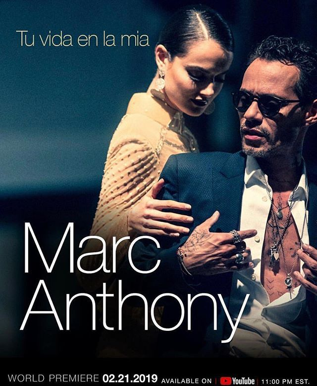 Tune in for my brother @MarcAnthony's premiere of his new single 'Tu Vida En La Mia'  tonight at 8 PM and the new video at 11 PM On his @YouTube channel! Bless Up!