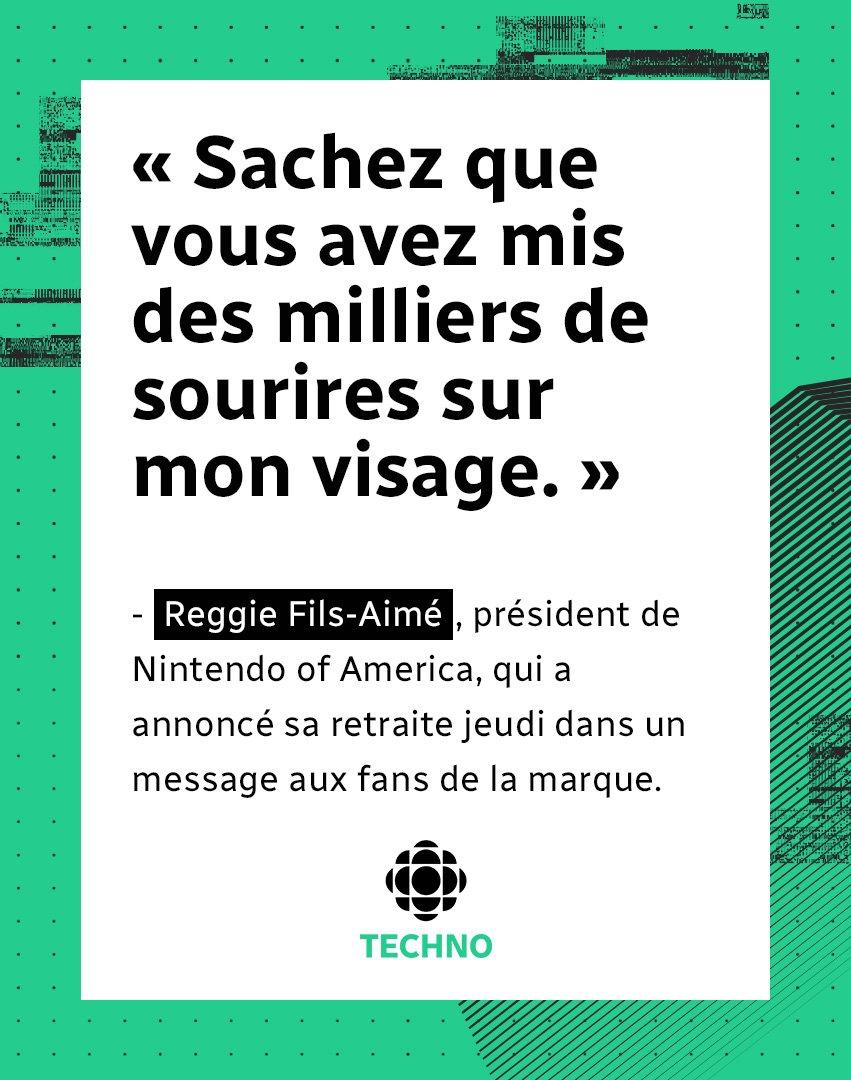 Radio Canada Techno On Twitter Reggie Fils Aimé A Annoncé
