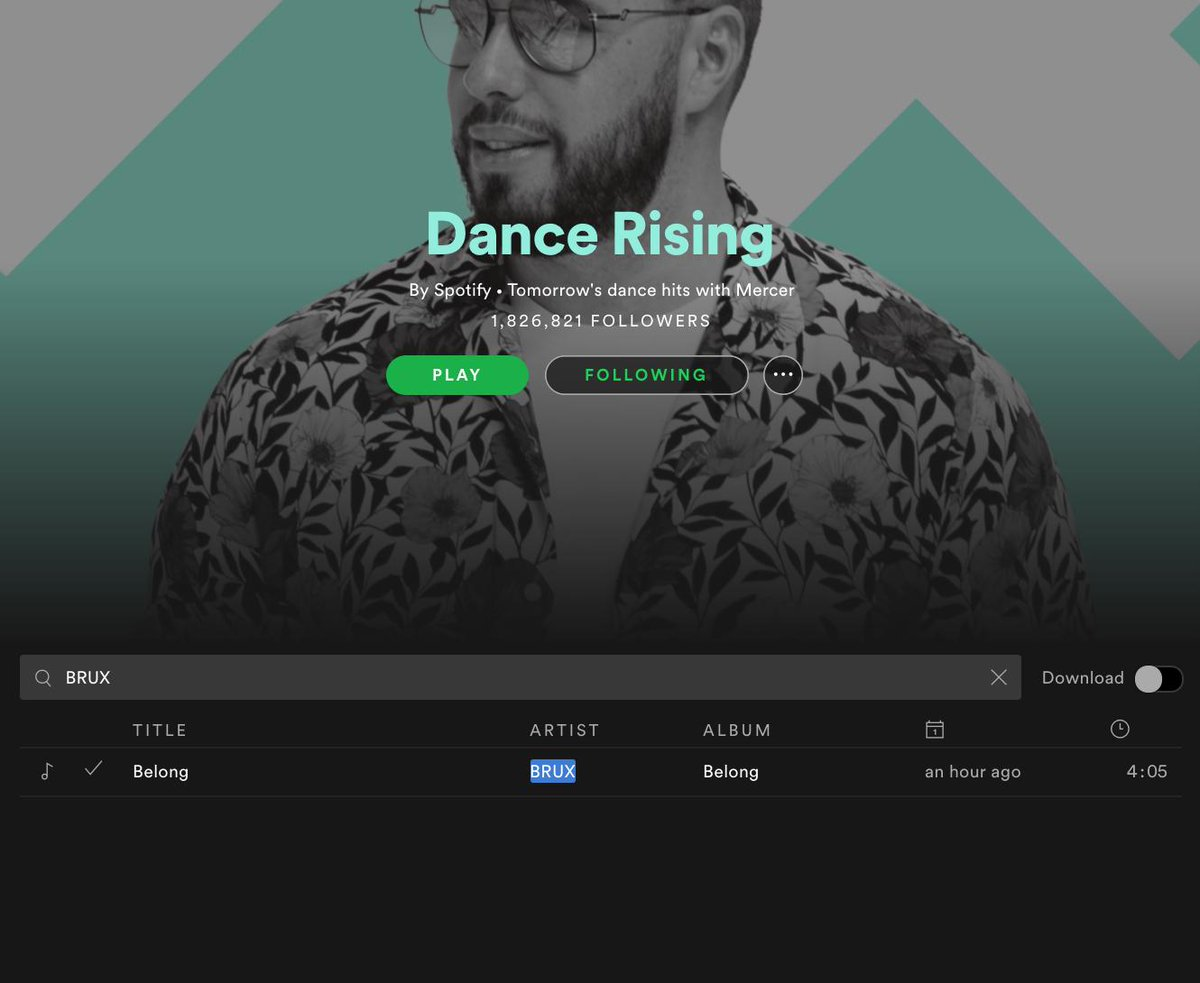 Welcome @Spotify & @austinkramer to the realm of BRUX  #DanceRising