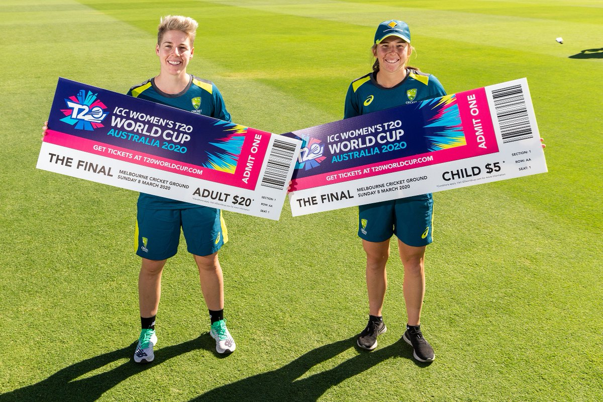 Help us create history at the @WorldT20 Women's Final! On International Women's Day (March 8, 2020), we will be aiming to break the world record for the highest attendance at a women's sporting event. Get your ticket today:  https://t.co/1fsyFZ0y2W