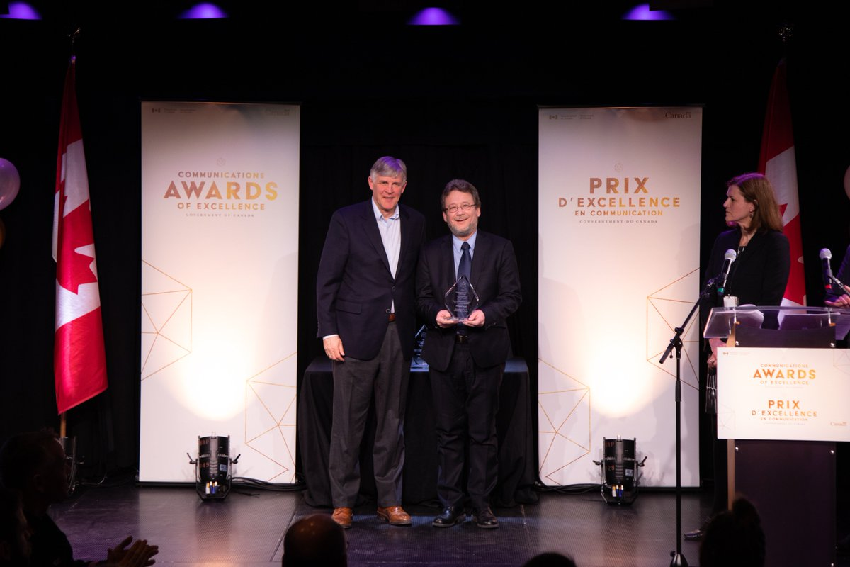Congratulations to Normand Daoust from Public Safety Canada for winning the Regional Powerhouse Award at the #GoC Communications Awards of Excellence! http://bit.ly/2CX1eGS #GCComms2019 #CommunicationsAwards @Safety_Canada