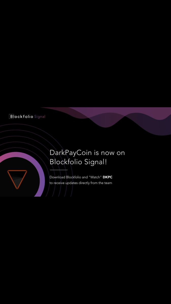 The @DarkPayCoin team has delivered something great again #dkpc @blockfolio #MassAdoption <br>http://pic.twitter.com/kG375wzi3m