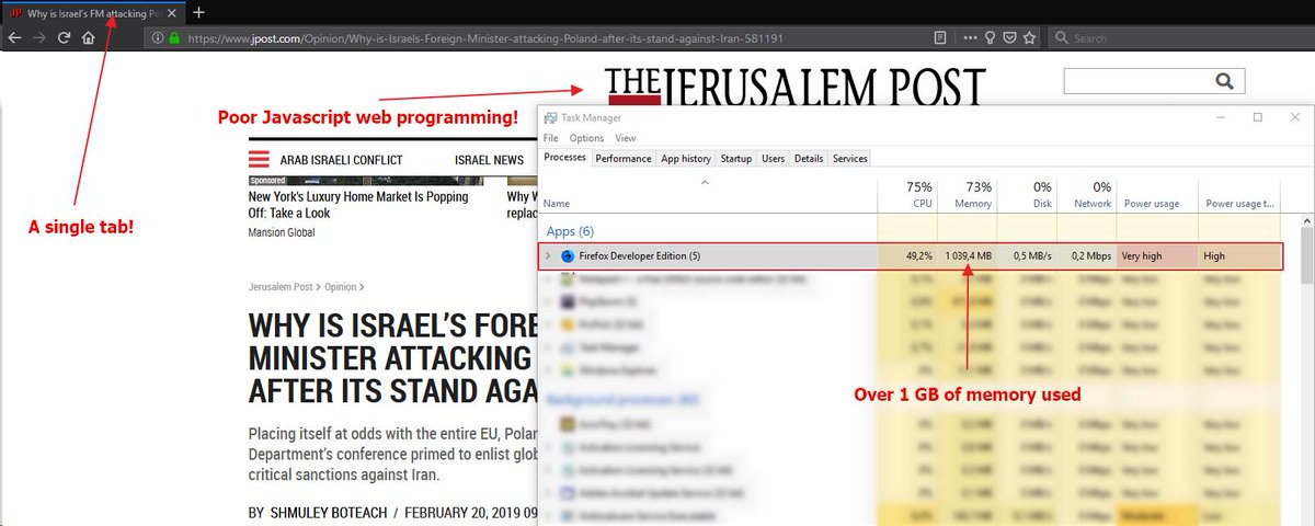 Extremely poor javascript programming on Jerusalem Post website!