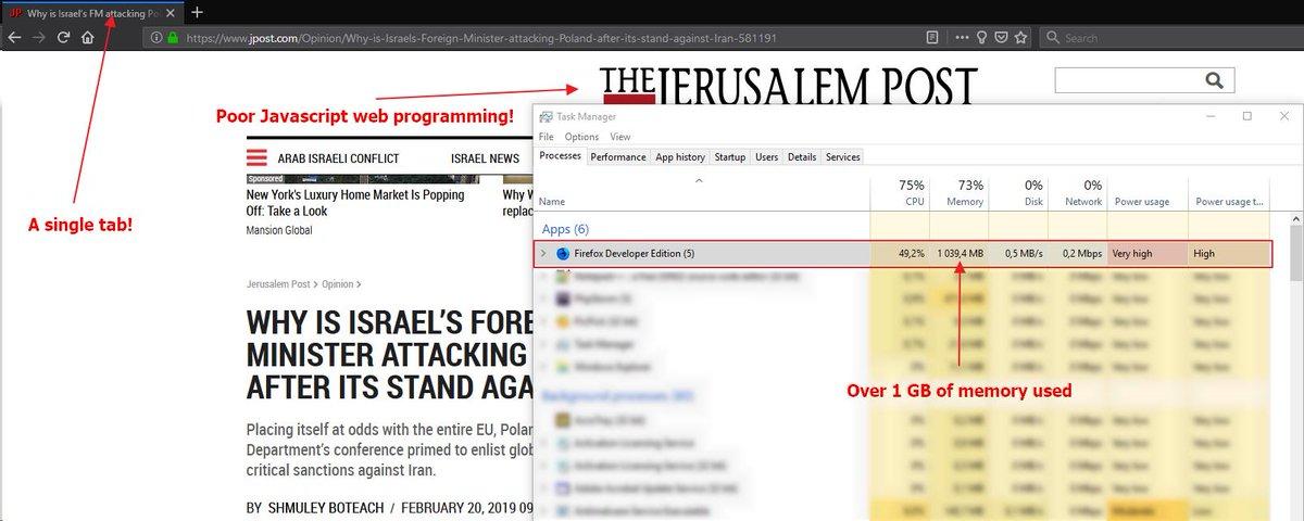 Extremely poor javascript programming on Jerusalem Post website!