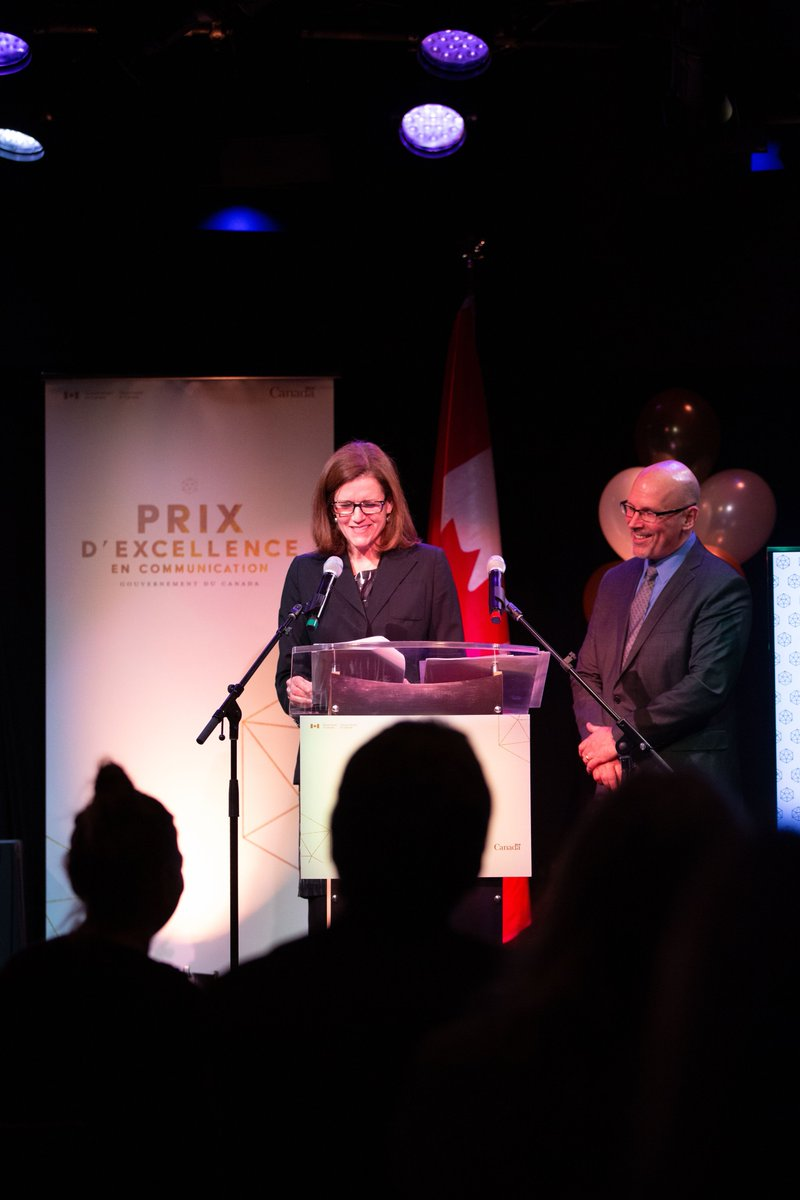 Thank you to our wonderful Masters of Ceremony for our Communications Awards of Excellence. CCO Steering Committee Co-Chairs, Louise Baird, Assistant Secretary, Treasury Board of Canada and Ken MacKillop, Assistant Secretary to the Cabinet, Privy Council Office #GCComms2019