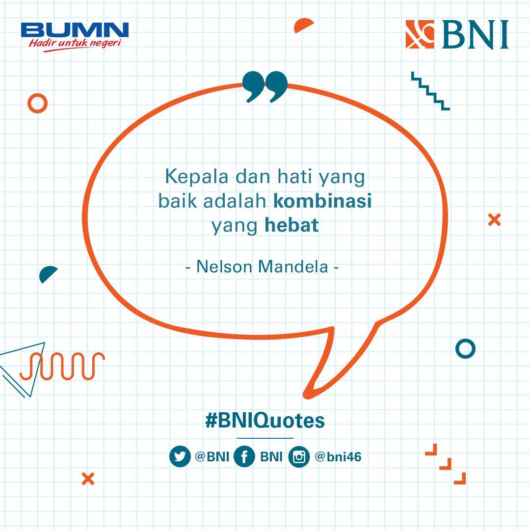 Kecerdasan intelektual dan emosional akan menjadikan kamu pribadi yang lebih tangguh. #BNIQuotes
