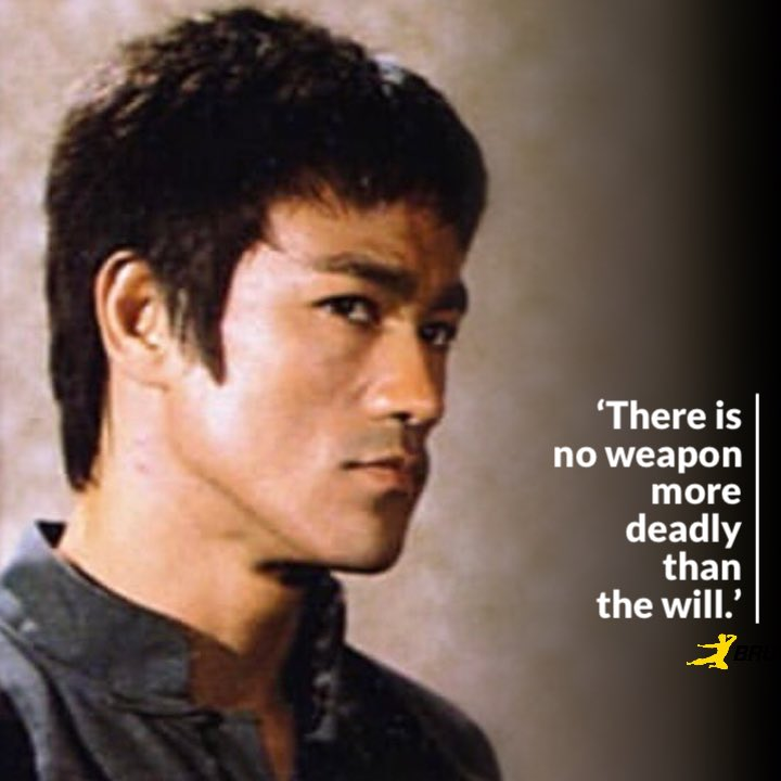 """Bruce Lee on Twitter: """"🐉👊🏽💥'There is no weapon more deadly ..."""
