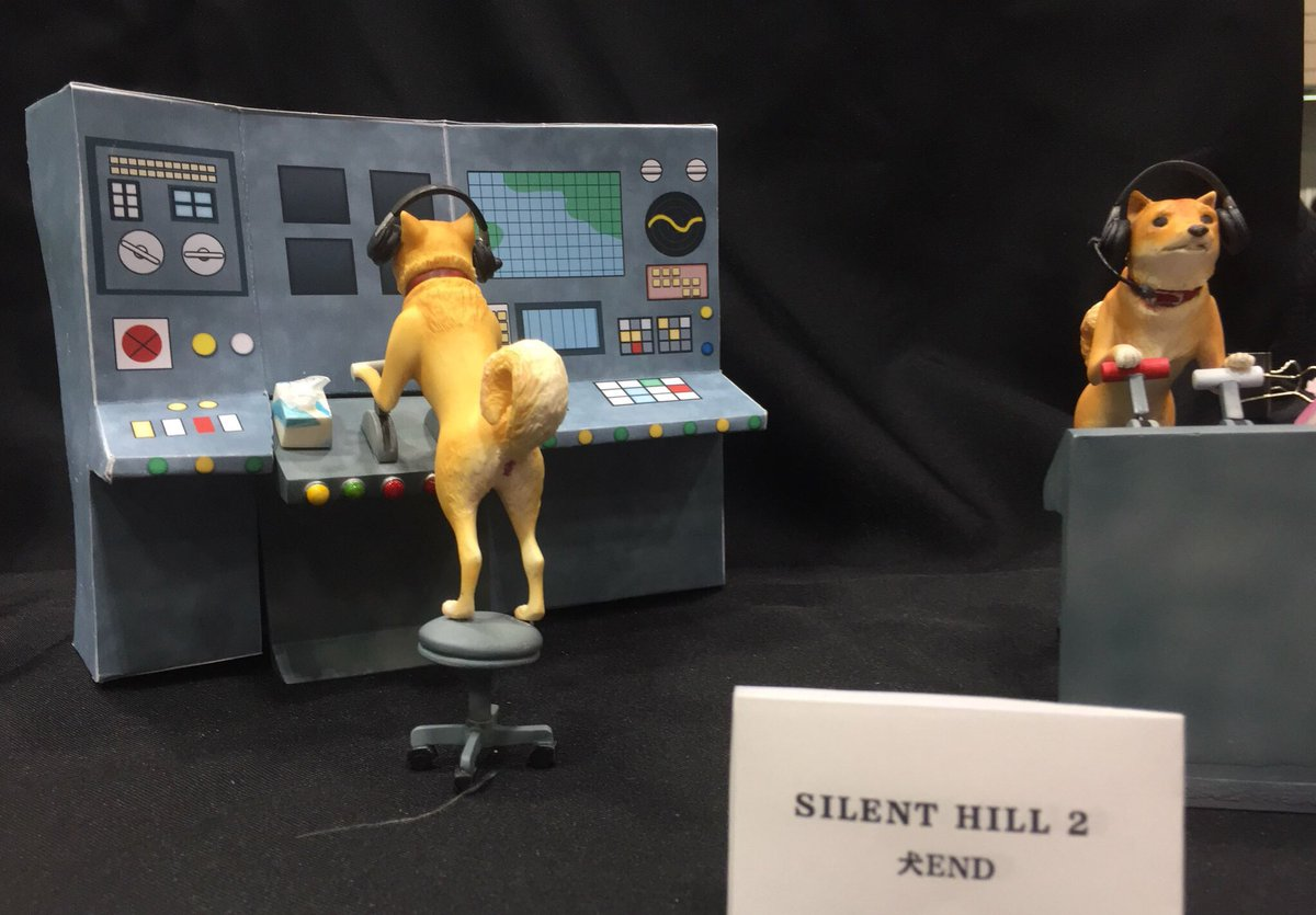 THERE&#39;S AN ACTUAL SILENT HILL 2 SET OF THE SHIBA INU AT WONDER FESTIVAL. IM DYING.  #wf2019w #whl4u29 #SilentHill #SilentHill2<br>http://pic.twitter.com/VllcdSqJ9Z