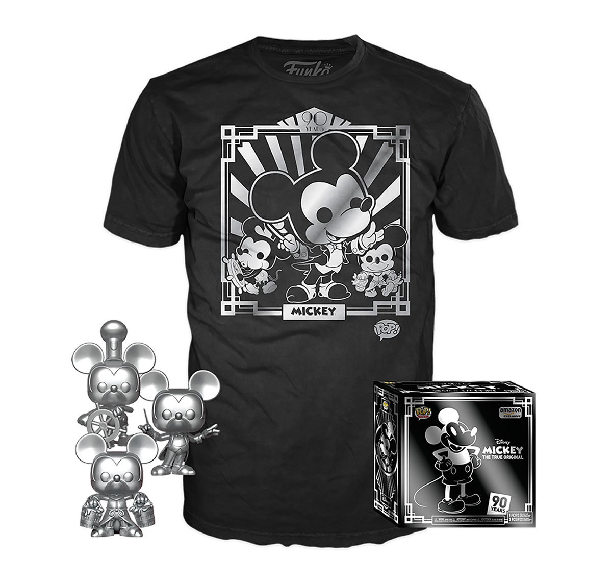RT & follow @OriginalFunko for a chance to WIN an @Amazon exclusive Mickey's 90th Pop! & Tee combo. #Mickey90