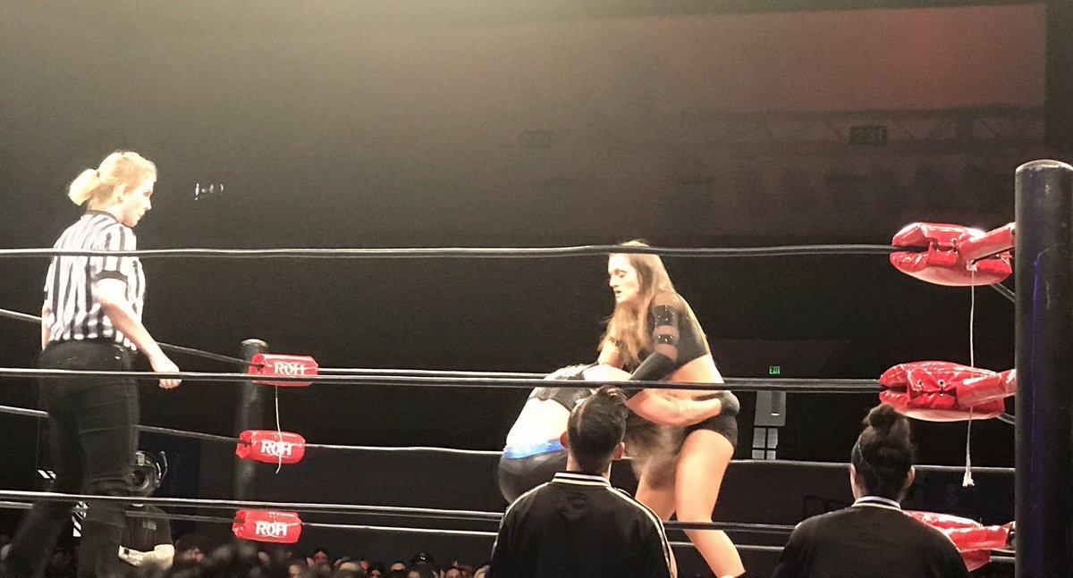#ROH also utilizing female referees now. #ROHLakeland
