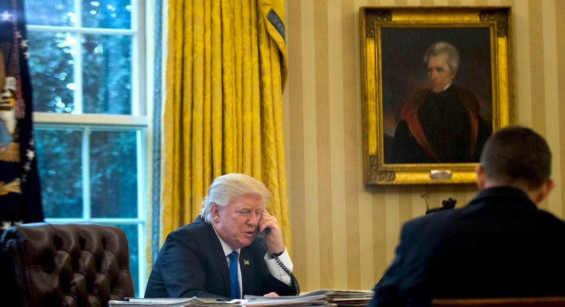 Donald Trump has a portrait of Andrew Jackson in his Oval Office and has tweeted jokes about the Battles of the Little Bighorn and Wounded Knee as recently as 1/13/19.  He knows what the Trail of Tears is and he knows what he's saying in this tweet. <br>http://pic.twitter.com/82ITEVxYfe