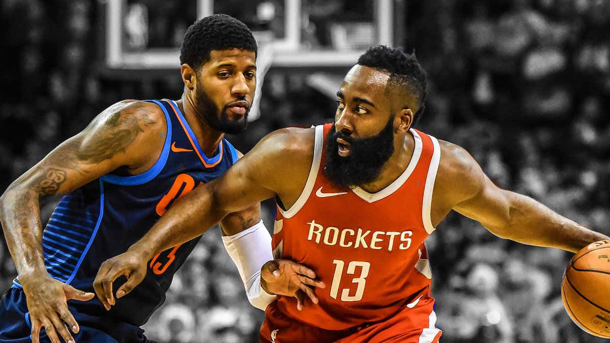 These two MVP candidates from Cali put on a show tonight   Paul George: 45 PTS | 11 REB | 3 AST 12-22 FG | 15-18 FT | 6-14 3PT W  James Harden: 42 PTS | 2 REB | 1 AST 11-28 FG | 14-15 FT | 6-16 3PT L