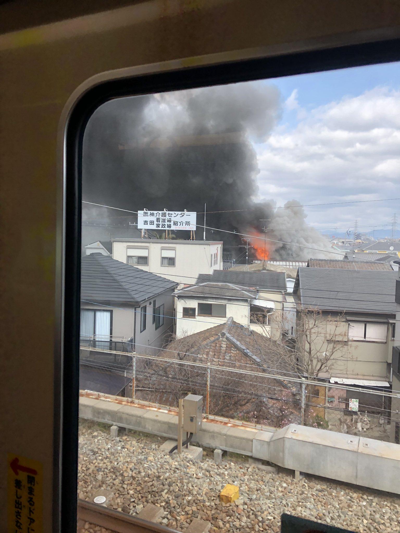 画像,電車急にゆっくりなって何事って思ったら火事だった https://t.co/z3TUO0glNr。