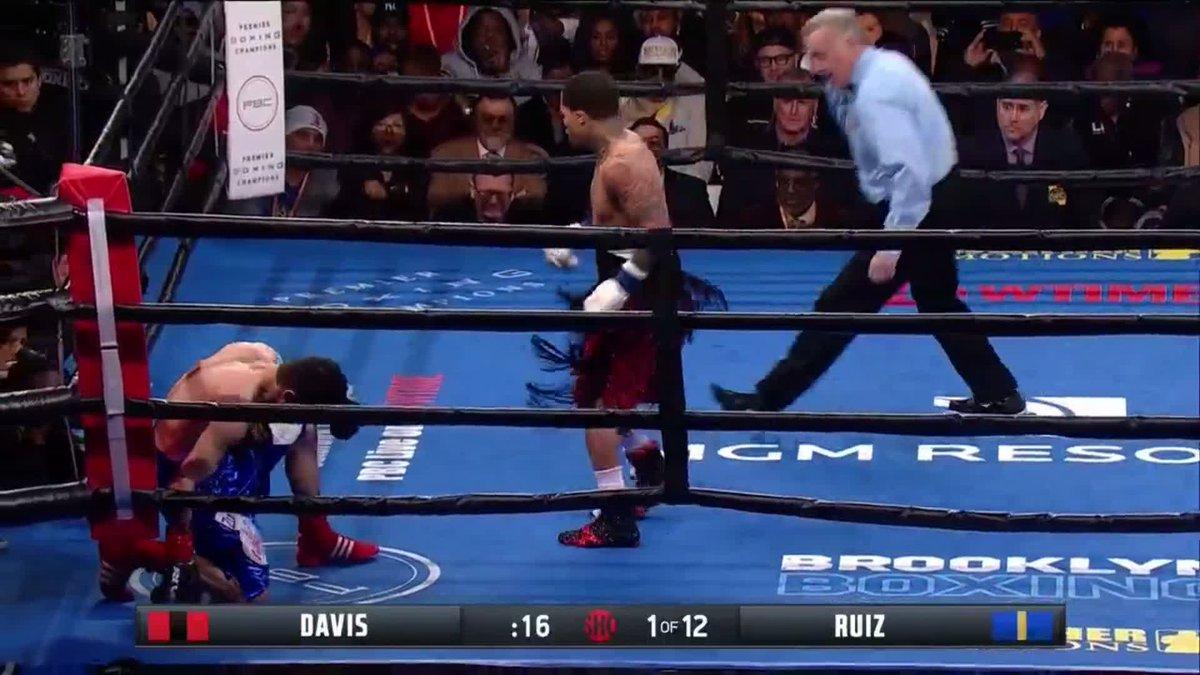 Gervonta Davis with the first round KO! #davisruiz