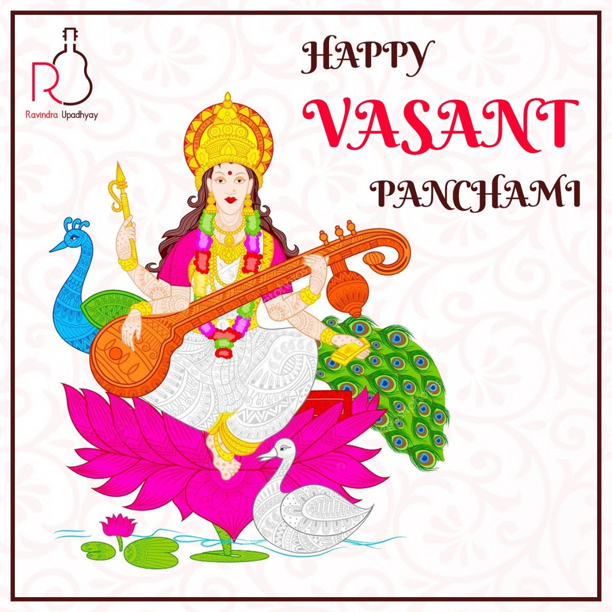 Wish you all a very Happy Vasant Panchami. #VasantPanchami #HappyVasantPanchami #VasantPanchami2019 #BasantPanchami #Devi #Saraswati #MaaSaraswati #SaraswatiMaa #SaraswatiPuja #SaraswatiPooja #Puja  #Knowledge #Music #Art