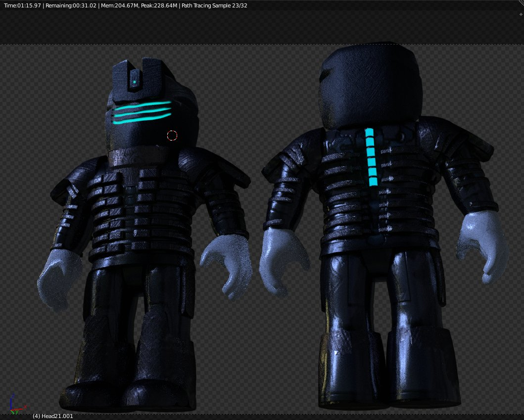 Roblox Space Helmet Rippergfx On Twitter Another Update To The Dead Space Project