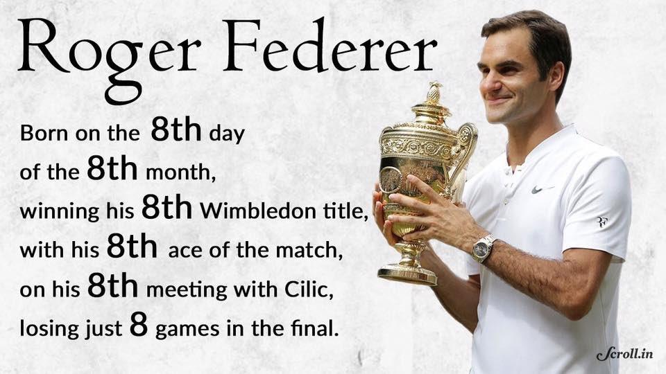 Roger Federer. Wimbledon 2017. #funfact<br>http://pic.twitter.com/PwPaZSpVig