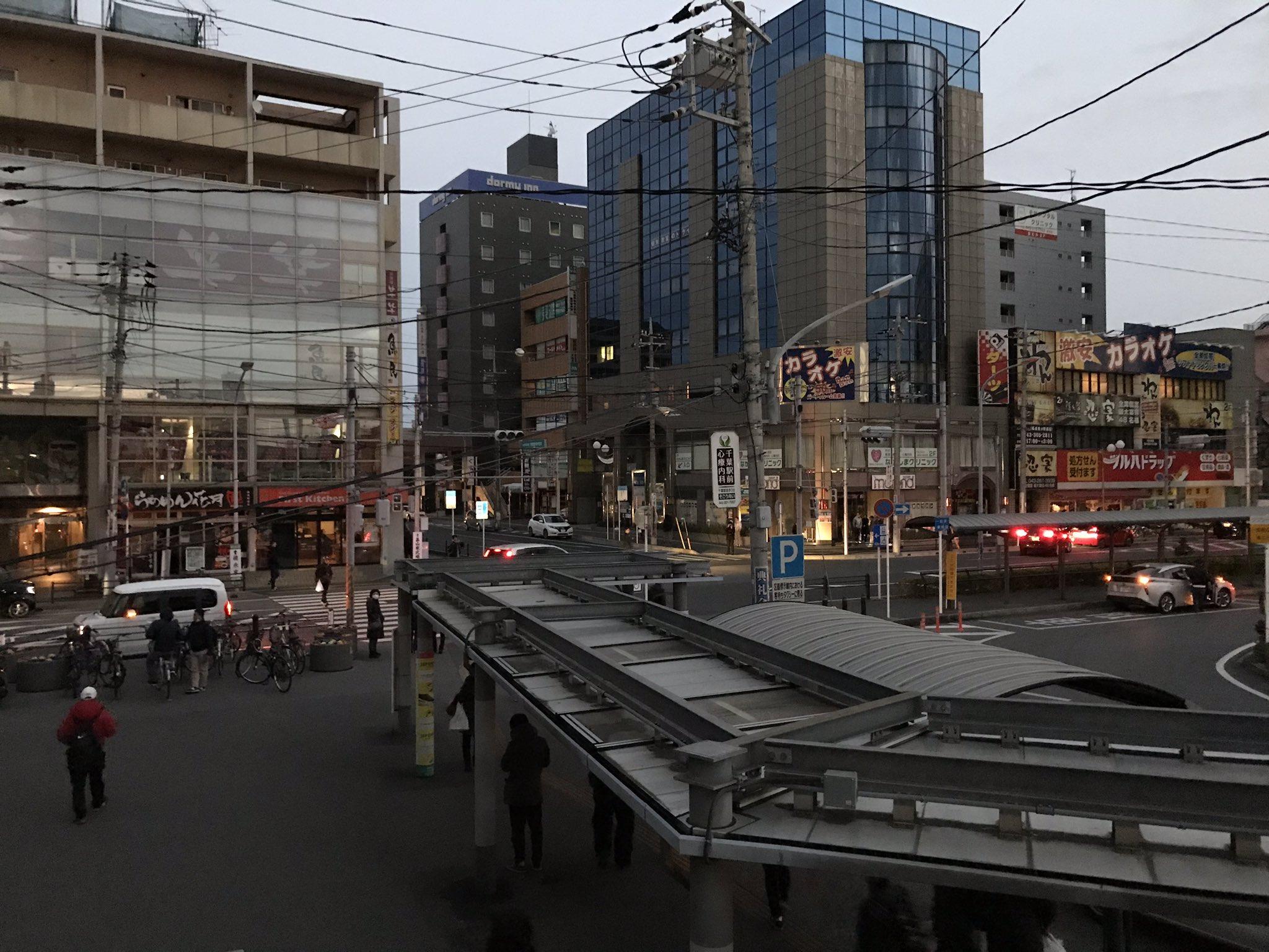 画像,蘇我駅周辺 停電してるんですが、なんかあるんすか? https://t.co/T2LUmJ5Spp。