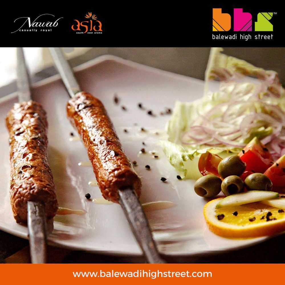 Seek(h) the pleasure of delectable food @Nawabasia. Try our Avadhi Seekh Kabab today! #nawabasia #punefoodies #punerestraunts #balewadi #BHS #spoiltbychoice #lifeatbhs #worldcuisine #perfecthangout #placetobe #drinkstagram #drinkporn #foodporn #foodiehub #weekend #chillout