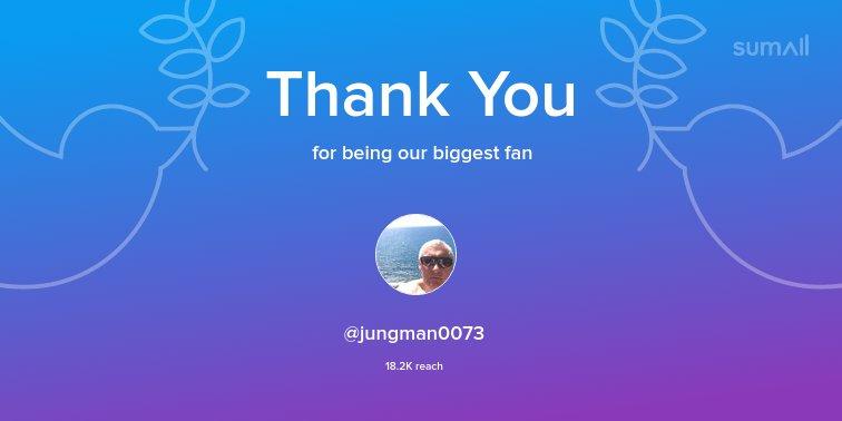 Our biggest fans this week: @jungman0073. Thank you! via https://sumall.com/thankyou?utm_source=twitter&utm_medium=publishing&utm_campaign=thank_you_tweet&utm_content=text_and_media&utm_term=93891cf6c728cfaf6696c69d…