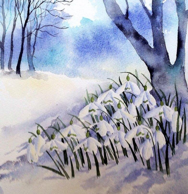 красивые картинки про весну нарисовать едут природу благо