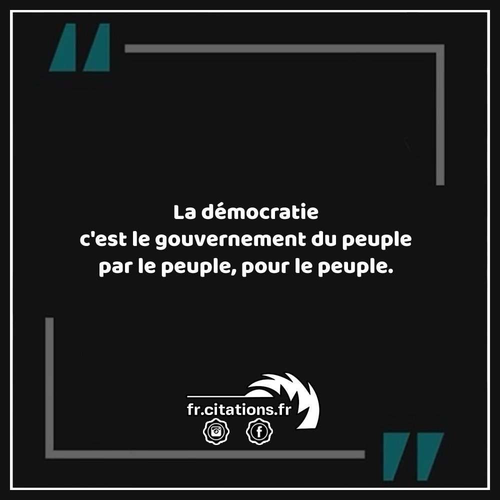 Citations On Twitter La Democratie C Est Le