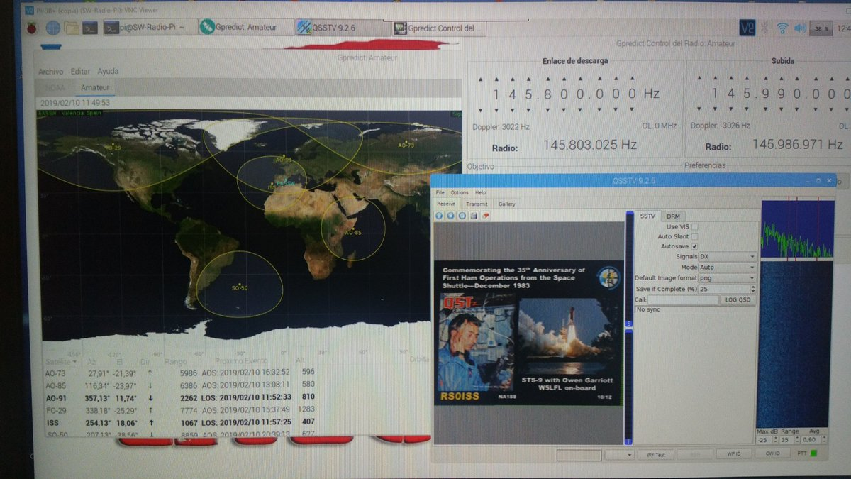 ISS #SSTV QSSTV Gpredict Just received #HAMRadio Tweet added by Jose