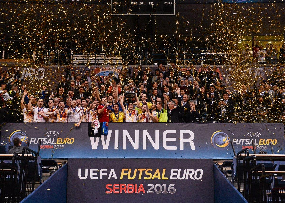 3⃣ years ago today ... @SeFutbol🇪🇸 won their SIXTH #FutsalEURO title in a row🏆🏆🏆🏆🏆🏆👏👏👏👏👏👏