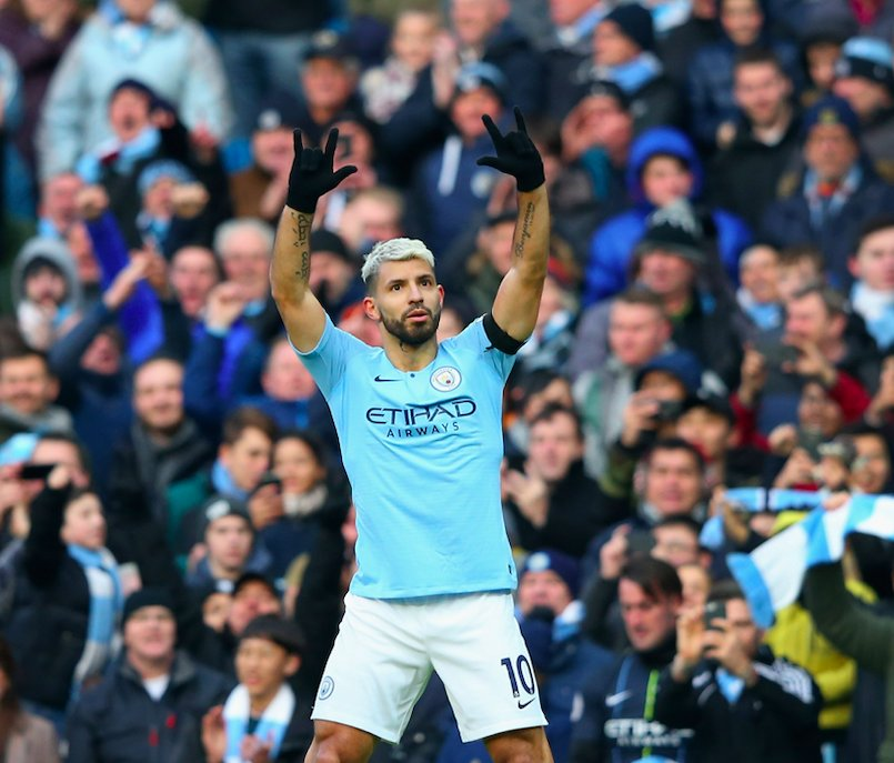 Sergio Aguero breaks record to Become Man City's new all-time top league scorer