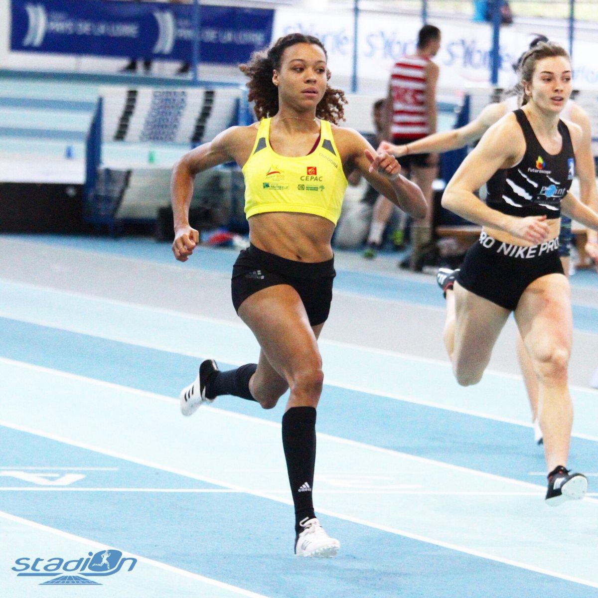 🇫🇷 Quelle ligne droite de Cynthia Leduc en finale du 60 m espoirs (7''34) ! La sociétaire de la @SCOMarseille a battu son record personnel en demi-finales avec 7''29. #athlétisme #CFAthlé