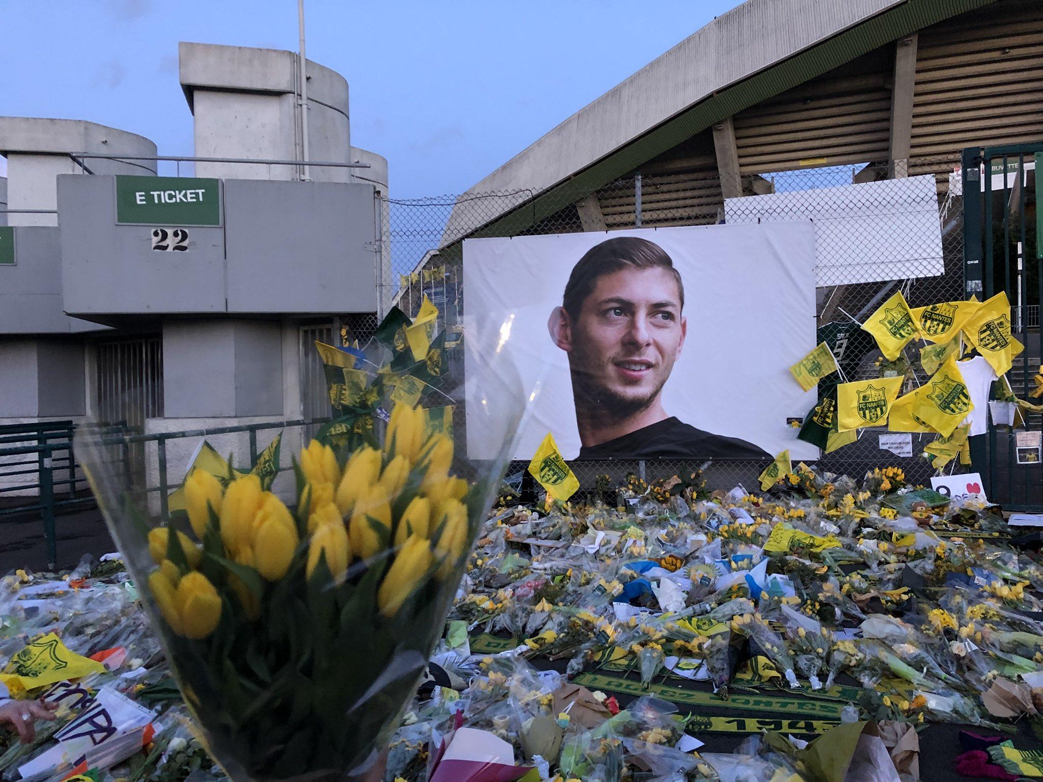 Altar a Emiliano Sala (Foto: FC Nantes).