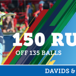 This pair just keeps going!  De Zorzi & Davids have just gone past the 150 run mark as a pair.  DYK: This is the highest 1st wicket partnership for the @Titans_Cricket against the @KnightsCricket in the #MODC