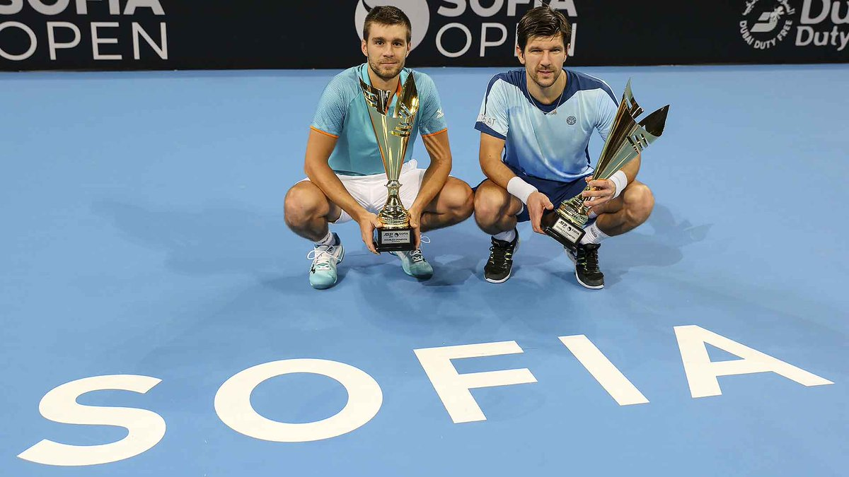.@NMektic and @jojomelzer capture their first team 🏆 at @sofiaopentennis.  Read More ▶️ https://t.co/6rxvlyNtrs https://t.co/rXlSmMPXCd