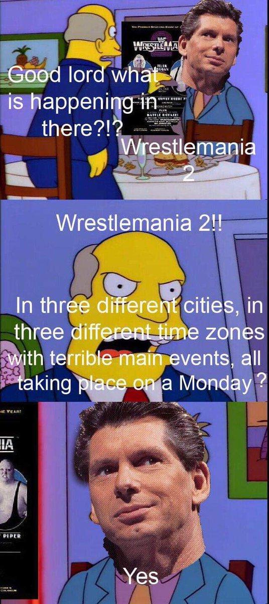 Simpsons Wrestling Memes On Twitter Credit Damien Cunningham