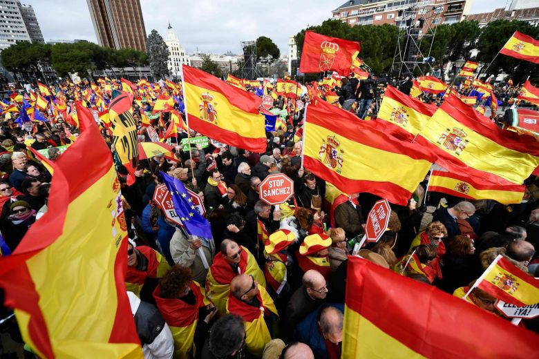 Thousands protest in #Madrid against government's #Catalonia policy https://t.co/psjyBghZ2Y