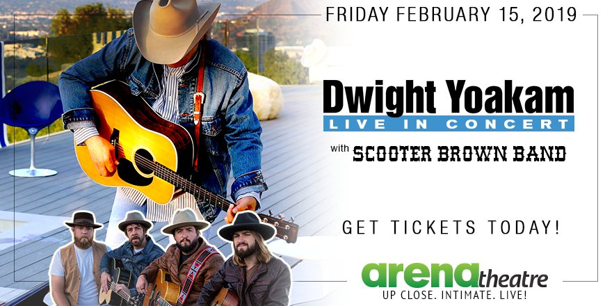 Dwight Yoakam and Scooter Brown Band will perform LIVE at the #ArenaTheatre this Friday, February 15th, 2019! 🔥 Grab your tickets today!  👉https://bit.ly/2E2ZQDj -- #LiveShow #LiveMusic #Houston #ValentinesConcert ❤️