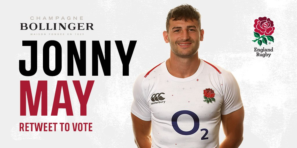 Time to vote for your @BollingerUK Fans' Man of the Match.  RT for Jonny May 🌹