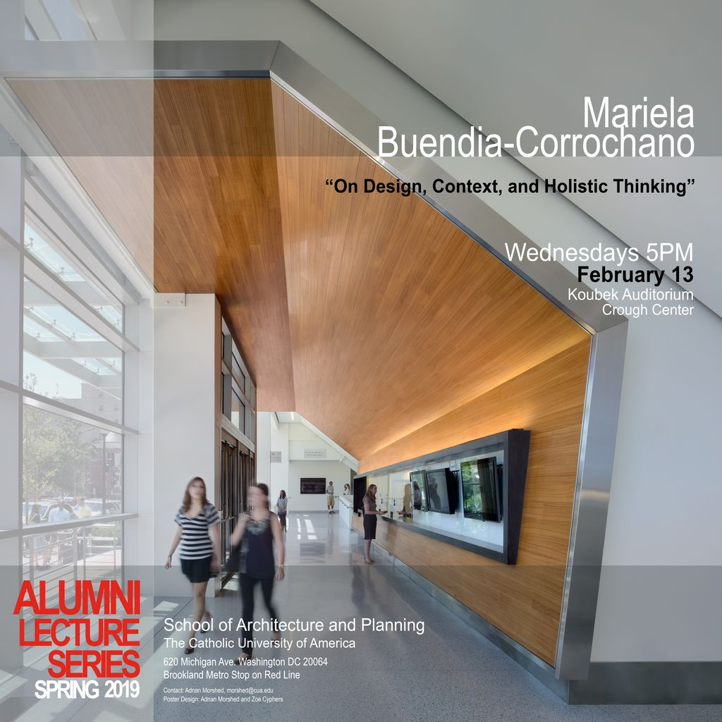 After You Ve Spoken To The Firms Wednesday Afternoon Come Mariela Buendia Corrochano S Gensler Design Lecture On Context And Holistic