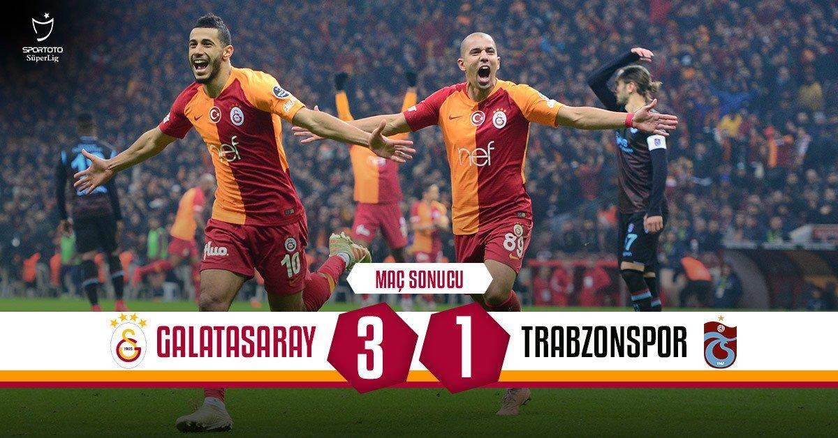 Maç sonucu: Galatasaray 3-1 Trabzonspor #GSvTS 👏💪